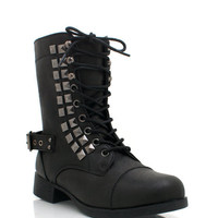 studded-combat-boots BLACK CHESTNUT - GoJane.com