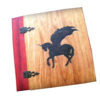 Pegasus Scrapbook - Photo Album Wood Burnt 9&quot; x 9&quot;