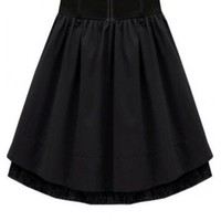 Black Lace Pleated Skirt  style skirt075