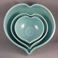 Nesting Heart Bowls Made to Order by dbabcock on Etsy