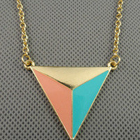 unique style necklace color Geometric pendant women metal long necklace simple style necklace xl119