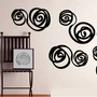 Brazilian Swirls wall stickers :  Dezign With a Z, Reusable wall decals