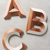 Woodshop Monogram Letter by Anthropologie Assorted