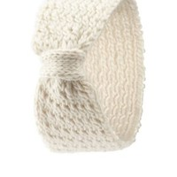 Bow-Front Sweater Knit Head Wrap by Charlotte Russe