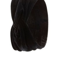 Knotted Velvet Head Wrap by Charlotte Russe