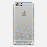 Mini Flurries Blue (transparent) iPhone 6 case by Lisa Argyropoulos | Casetify