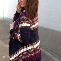 Fringe Benefits Cardigan {Magenta}