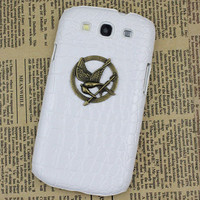 hunger games mockingja And  White Hard Shell for Samsung Galaxy S3 i9300