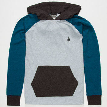 Volcom Peacific Boys Lightweight Hoodie Blue Combo  In Sizes