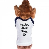 World's Best Dog-Unisex Navy/White T-Shirt
