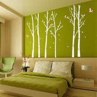 winner tree and free birds-wall decals -wall sticker wall decal
