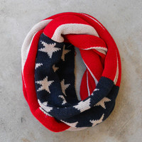 Patriotic Vintage Knit Scarf [6427] - $32.00 : Vintage Inspired Clothing & Affordable Dresses, deloom | Modern. Vintage. Crafted.