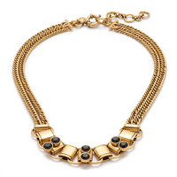J.Crew Womens Resin On Metal Necklace