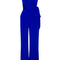 Catherine Malandrino Belted stretch-silk jumpsuit – 49% at THE OUTNET.COM