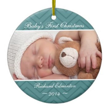 Boys Blue Baby's First Christmas Ornament