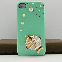 iPhone case fishy case  iPhone 4 case iPhone 4s case iPhone cover   14 color choices