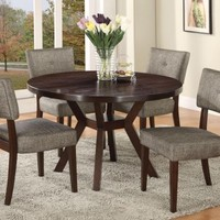 16250 - Drake Espresso Finish Dining Table + 4 Chairs - Furniture2Go