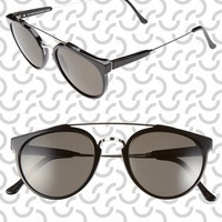 SUPER by RETROSUPERFUTURE® 'Giaguaro Shiny Black' 51mm Sunglasses | Nordstrom