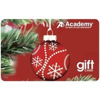 Academy - Academy Holiday Gift Card -Red Ornament Design
