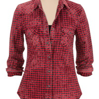 silver jeans co. ® button down flannel shirt
