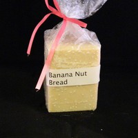 Banana Nut Bread Square Candle Light Yellow Color