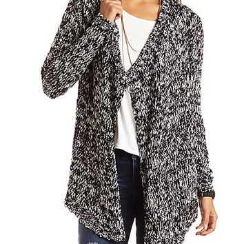 SLUB CASCADE CARDIGAN SWEATER