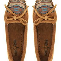 Minnetonka El Paso II Brown Suede Moc Shoes at asos.com