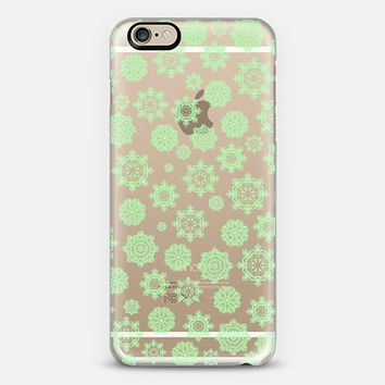 Mini Flurries Mint (transparent) iPhone 6 case by Lisa Argyropoulos | Casetify