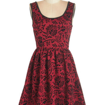 ModCloth Mid-length Tank top (2 thick straps) A-line Jingle Bell Frock