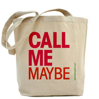 Call Me Maybe - Custom 100% Cotton Canvas Tote Bag - FREE SHIPPING