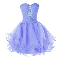 Princess Cocktail Party Dress Crystal Mini Short D0131