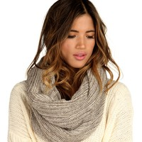 Sale-taupe Two-tone Snood Scarf
