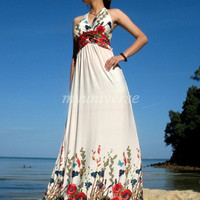 Elegant Maxi Dress Romance Evening Long Dress Sundress/ Bridesmaid dress/ Wedding Dress
