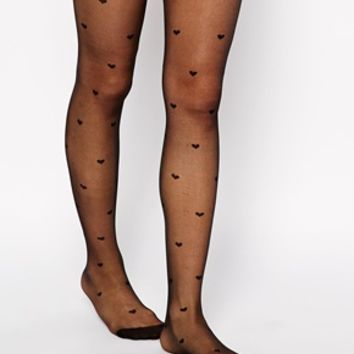ASOS All Over Hearts Tights