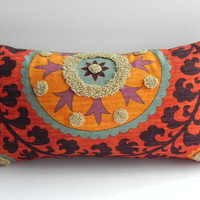 Suzani 3Park 10X20 Tribal Print Pillow Cover Designer Home Decor Fabric-Throw Pillow-Lumbar Pillow-Couch Pillow-Living Room