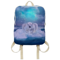 Power Is No Blessing In Itself (Protect the Polar Bear) Backpack created by soaringanchordesigns | Print All Over Me