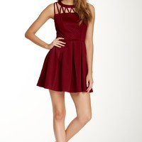 Want & Need   Sleeveless Cage Yolk A-Line Dress   Nordstrom Rack