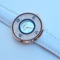 RhineStone Watch - White