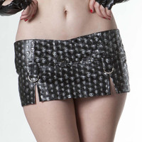 Living Dead Souls Embossed Skull Mini Skirt :: VampireFreaks Store :: Gothic Clothing, Cyber-goth, punk, metal, alternative, rave, freak fashions