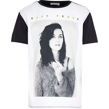 River Island Girls black and white Katy Perry t-shirt