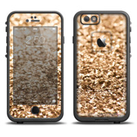 The Gold Glimmer V2 Skin Set for the Apple iPhone 6 LifeProof Fre Case