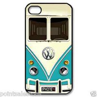 Blue, red &amp; yellow Volkswagen VW mini bus mini vans iPhone 4 4s case &gt; choose it