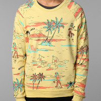 Hawaiian Print Crew Sweatshirt