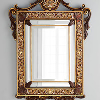Jay Strongwater Wood Wall Mirror