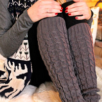 Quilted Knit Leg Warmers