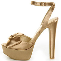 Chinese Laundry Forget You Nude Satin Platform Pumps - $79.00