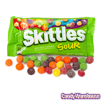 Sour Skittles Candy 1.8-Ounce Packs: 24-Piece Box | CandyWarehouse.com Online Candy Store