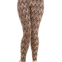 ModCloth 90s Long Skinny Chevron Comfort Leggings