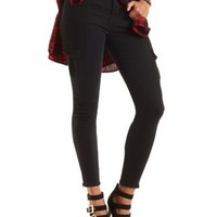 Low Rise Skinny Cargo Pants by Charlotte Russe - Black