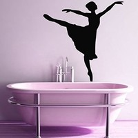 Wall Decor Vinyl Decal Sticker Interior Sport Gym Dance Ballet Studio Woman Girl Ballerina Kj247